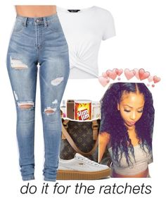 """OK Gn."" by liveitup-167 ❤ liked on Polyvore featuring New Look and Puma"