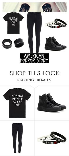 """""""AHS"""" by dark-soul-xd on Polyvore featuring Converse, Paige Denim, NOVICA, women's clothing, women's fashion, women, female, woman, misses and juniors"""