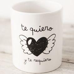 Ideas de regalos para San Valentín: Taza 'te quiero y te requiero' de MR. WONDERFUL