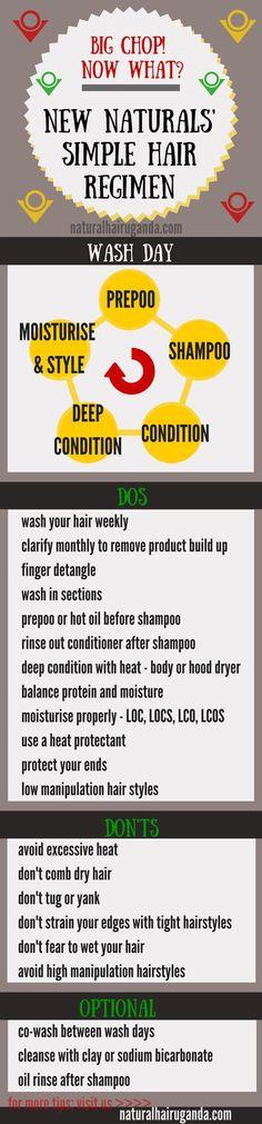 Simple natural hair regimen  ☪ Pinterest: @RaelinaTerry