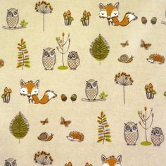 Woodland Fox Gloss Oilcloth