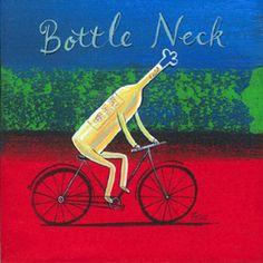 Africa Art, Out Of Africa, Bicycle Painting, Kitchen Confidential, Wine Lover, Kitchen Art, Bicycles, Wall Art, Bottle