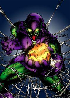 Green Goblin by MarcBourcier on DeviantArt Marvel Villains, Marvel Heroes, Marvel Characters, Spiderman Pictures, Spiderman Art, Marvel Comics Art, Marvel Comic Universe, Comic Books Art, Comic Art