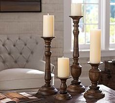 Candle Holders, Candlesticks & Glass Candle Holders   Pottery Barn