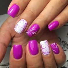 30 Most Popular Spring Nail Colors Of 2017 Perfect Nail Art is not enough, appropriate selection of color also plays vital role. Here comes the collection of Most Popular Spring Nail Colors Of 2017 Purple Nail Designs, Best Nail Art Designs, Nail Designs Spring, Gel Nail Designs, Nails Design, Pedicure Designs, Manicure Ideas, Tropical Nail Designs, Funky Nail Designs