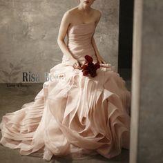 Wedding, Wedding dress / cheongsam / dress, Women's Clothing, Vera wang Vera Wang Seiko same paragraph purchasing real shot @ Eugen contrast fishtail wedding dress white \ pink