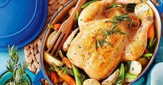 For a filling family meal, try this tasty chicken and tarragon pot roast. Pot Roast Recipes, Chicken Recipes, Carrots And Potatoes, Fresh Chicken, Roast Dinner, Just Cooking, Winter Food, Casserole Dishes, Family Meals