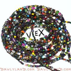 Vex- Custom Fit Waist Beads / Bracelet / Anklet / Necklace, Rings, E-CigNecklace or Beadkini by dawlface8 on Etsy