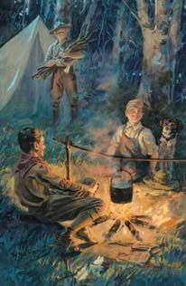 norman rockwell camping   Norman Rockwell Art