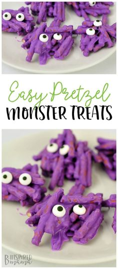 Aug 2019 - How to Make Cute Non-Scary Halloween Monster Treats - A fun kids' treat for a class Halloween party or even for a preschool monster theme or kids monster Birthday party! Monster Snacks, Monster Themed Food, Birthday Party Snacks, Monster Birthday Parties, Class Birthday Treats, Birthday Kids, Preschool Birthday Treats, Little Monster Party, Birthday Desserts