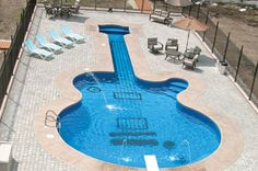 Guitar-shaped pool