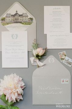charming wedding invite