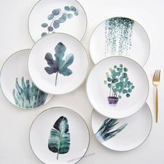 Japanese Ceramic Plate Set of 4 Material: High-Class Beech (Ceramic) Color:white Pattern:irregular Approx Dimension: Painted Ceramic Plates, Ceramic Painting, Ceramic Pottery, Ceramic Art, Decorative Plates, Pottery Plates, Painted Porcelain, Hand Painted Ceramics, Pottery Painting Designs