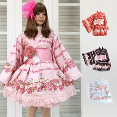 4649a385dce0 l347 - Yukata - Lolita in size M pik , sax Gyaru, Ten, Lolita