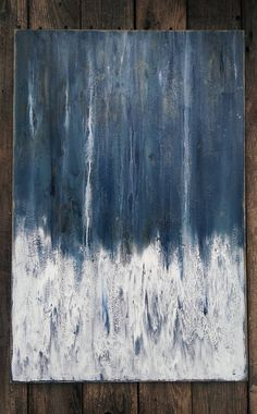 Original Modern Ozean abstrakt blau und weiß minimalistischen