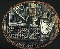 """""""Bodegón con asiento de rejilla"""" 1911-1912, Museo de París*"""