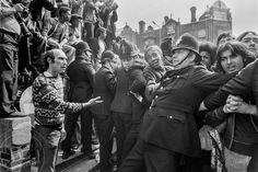 Lewisham Riots 1977 - Decorative Collective Antiques Online, Selling Antiques, Black N White Images, Black And White, National Front, Dc Photography, Punk Poster, Galleries In London, Police Officer