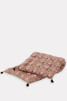 Deoli Blush Mattress 70x180cm – The Hambledon Bungalow, Outdoor Loungers, Lifestyle Store, Summer Colors, Printed Cotton, Blush Pink, Mattress, Floral Design, Outdoor Blanket