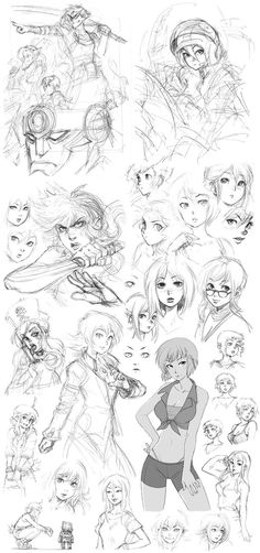 Third sketch dump from 2010 - mainly sketches and concept art of one of my OCs form Next-Gen comic book series, Shuo. It was a time when I needed to simplify her design and make her more cool and z...