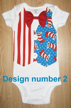 Baby boy coming home outfit Dr seuss birthday by kottoncactus