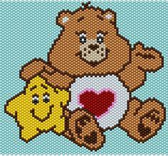 Tenderheart Care Bear - Peyote/Brick Stitch Pattern - 78 Columns X 56 Rows - Pattern by me, Man in the Book