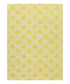 Look at this Yellow Scallop Rug on #zulily today!