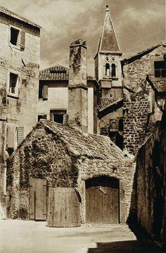 Buildings in Trogir, Croatia, 1926 by Kurt Hielscher