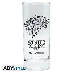 Game of #thrones 290 ml #house of stark 'winter is coming' #glass mug,  View more on the LINK: http://www.zeppy.io/product/gb/2/291978703695/