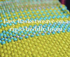 Simple basketweave for rigid heddle weaving, free video tutorial.