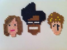 IT Crowd magnets set of three perler bead creations by brookeworm, $20.00 <>Crafternoons by Ashlyn <> Find me on Facebook!