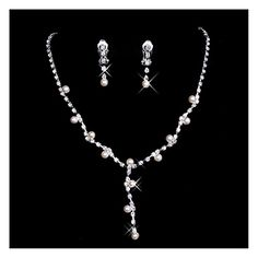 Belle House Sliver Necklace Earrings Prom Jewelry Sets for Wedding Bridal Party BH15024 -- More info could be found at the image url.-It is an affiliate link to Amazon. #WeddingEarrings