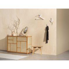 Design House Stockholm Air Sideboard opbergkast | FLINDERS Low Sideboard, Sideboard Furniture, Nordic Design, Scandinavian Design, Freestanding Room Divider, Cane Furniture, Light Decorations, Solid Oak, Copenhagen