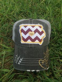 Iowa State Cyclones State Baseball Bling Ladies Womens Trucker Hat by  Chasing Elly on Etsy Iowa 7b38df1b9331