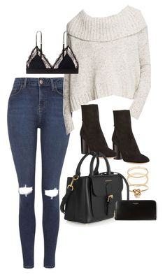 """""""Untitled #715"""" by dearestdana ❤ liked on Polyvore featuring Topshop, Eileen Fisher, Isabel Marant, LoveStories, Forever 21, Jeweliq, Burberry and Yves Saint Laurent"""