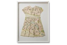 Wolfe, Large Folded Map Dress, Paris  Maybe a NYC version for NK?