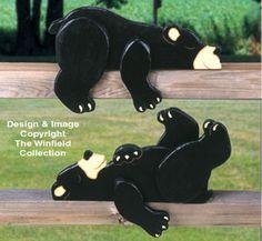 Lazy Bear Cubs Rail Pets Pattern