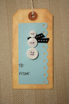 gift tags out of left over invitations?