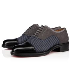 Christian Louboutin Italy Official Online Boutique - Very City Version multi Calfskin and Wool available online. Discover more Men Shoes by Christian Louboutin Fly Shoes, Men's Shoes, Dress Shoes, Christian Louboutin, Christian Dior, Derby, Thick Heels, Red Sole, Formal Shoes