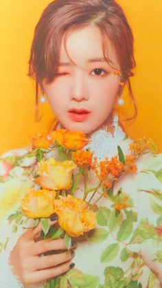 "Season& Greetings 2020 ""Floral Day"" - Yoon Bo Mi of Apink - Pink Panda, Love Sparkle, Picture Credit, Webtoon, Kpop Girls, Korean Girl, Asian Beauty, Seasons, Celebrities"