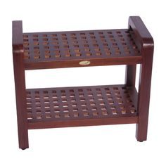 Have to have it. Decoteak 24 in. Teak Grate Shower Bench with Shelf and Lift Aide Arms $190