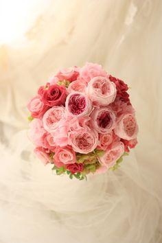 ラウンドブーケ プリザーブド モントレ赤坂様へ : 一会 ウエディングの花