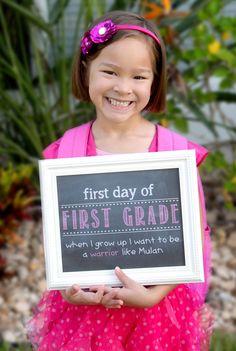 First Day of School Faux Chalkboard