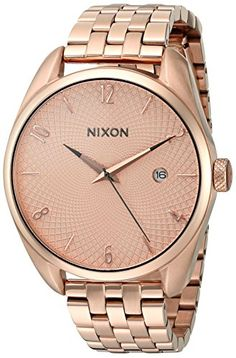 Nixon Women's 'Bullet' Quartz Stainless Steel Automatic Watch, Color:Rose Gold-Toned (Model: A418897-00) -- Read more reviews of the product by visiting the link on the image.