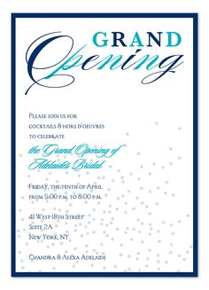 12 Great Grand Opening Invitation Wording Ideas Grand opening