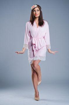 Lou Lou Pink Jersey Robe