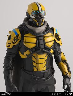 Destiny - Argus Front 34 Comp Yellow by MikeJensen on DeviantArt Suit Of Armor, Body Armor, Destiny Cosplay, Military Robot, Space Opera, Combat Suit, Armor Clothing, Futuristic Armour, Cyborgs
