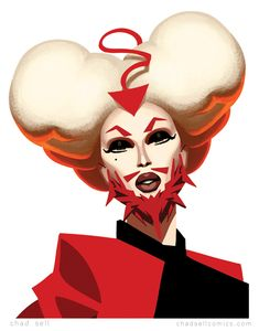 Pearl by Chad Sell. Loved this look, my favorite interpretation of facial hair from that ep