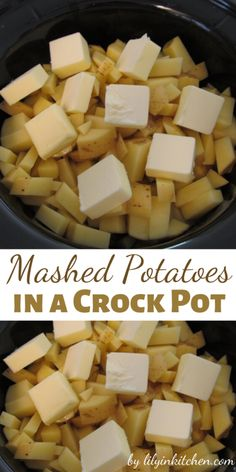 Recipe for Mashed Potatoes in a Crock Pot – life changing!Recipe for Mashed Potatoes in a Crock Pot – life changing! - I loved them because not only were they delicious – they were also so easy to Crock Pot Food, Crockpot Dishes, Crock Pot Slow Cooker, Slow Cooker Recipes, Crockpot Recipes, Cooking Recipes, Thanksgiving Recipes Crockpot, Thanksgiving Mashed Potatoes Recipe, Crock Pot Healthy