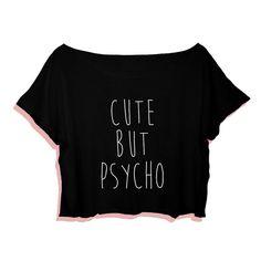 Camiseta linda pero Psycho Crop Tee camiseta de Tumblr por NavedAme