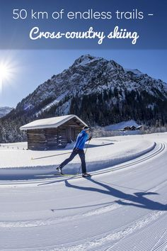 The stillness of sport Cross-country skiing - reach places that can not be reached by foot! Ski Touring, Cross Country Skiing, Estes Park, Winter Scenes, Outdoor Camping, British Columbia, Mountain Biking, Trail, Hiking